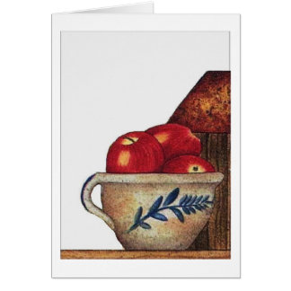 bowl of apples card