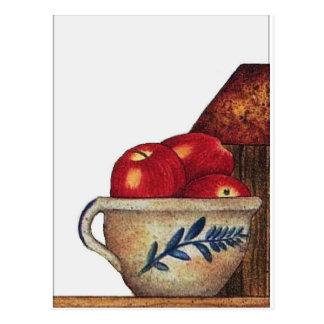 bowl of apples postcard