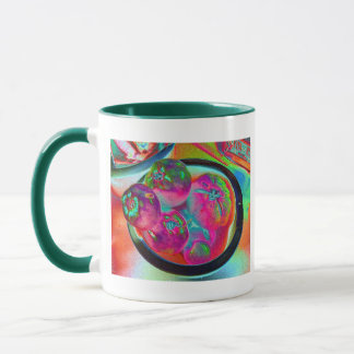 Bowl of Beefsteak Tomatoes in Colored Foil Mug