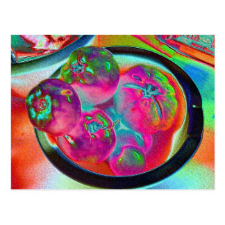 Bowl of Beefsteak Tomatoes in Colored Foil Postcard