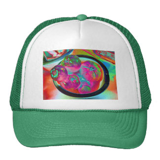 Bowl of Beefsteak Tomatoes in Colored Foil Trucker Hat