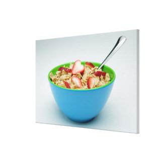 Bowl of cereal canvas print
