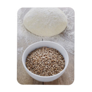Bowl of Cereal Grain and Mound of Dough Magnet