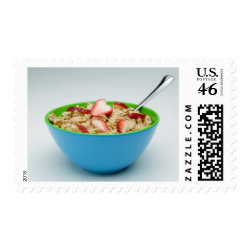 Bowl of cereal stamp