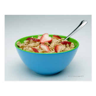 Bowl of cereal postcard