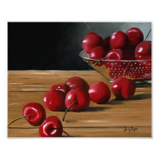 """Bowl of Cherries"" Canvas Print"