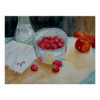 Bowl of Cherries Canvas Print