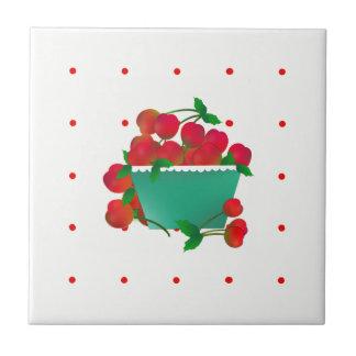 Bowl of Cherries Ceramic Tile