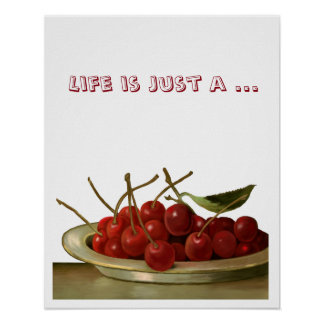 Bowl of Cherries customizable Poster