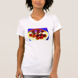 Bowl of cherries front view T-shirt