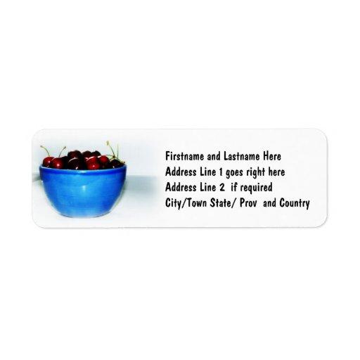 Bowl of Cherries Return Address Label