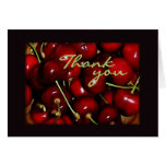 Bowl of Cherries Thank You Greeting Cards