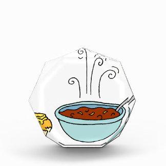 Bowl of chili and cornbread muffin award