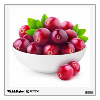 Bowl of cranberries wall decal
