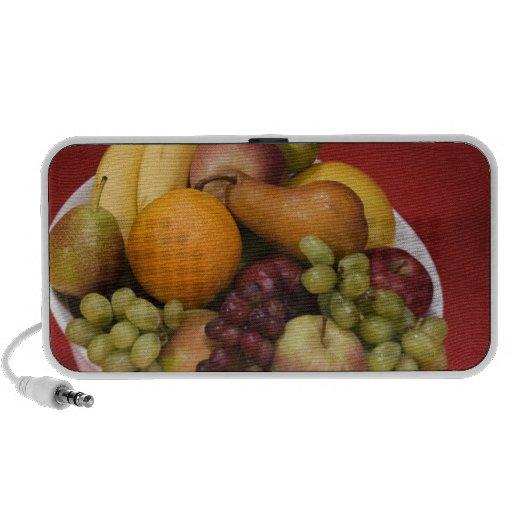 Bowl of fresh fruits iPhone speaker