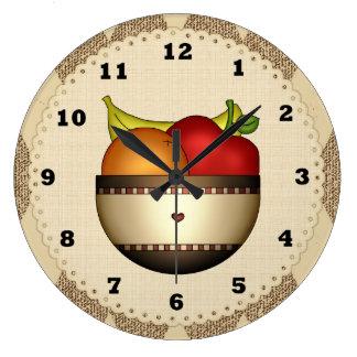 Bowl Of Fruit 2 kitchen clock