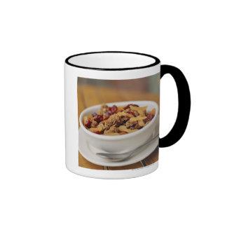 Bowl of granola ringer coffee mug