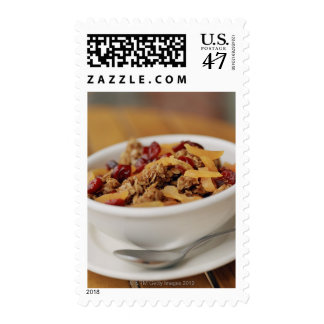 Bowl of granola stamp