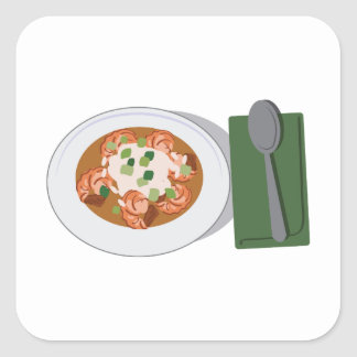 Bowl of Gumbo Square Sticker