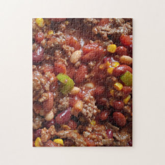 Bowl of Hot Chili Jigsaw Puzzle