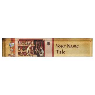 BOWL OF HYGEIA  Medicine, Pharmacy Name Plate