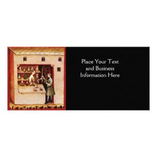 BOWL OF HYGEIA  MONOGRAM Medicine, Pharmacy,black Rack Card