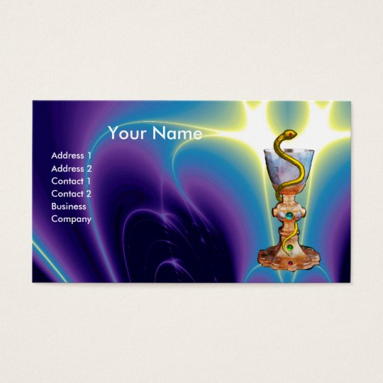 BOWL OF HYGEIA , PHARMACY BUSINESS CARD