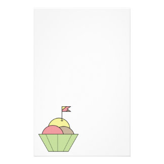 Bowl of Ice Cream Colorful Stationery