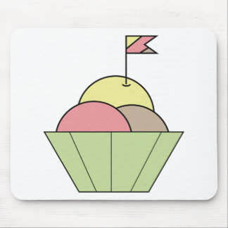 Bowl of Ice Cream Mouse Pads