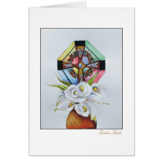 Bowl of Lillies Greeting Card