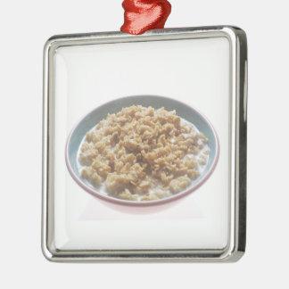 Bowl of Oatmeal Metal Ornament