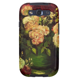 Bowl of Peonies and Rose,Vincent van Gogh Galaxy S3 Cases
