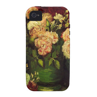 Bowl of Peonies and Rose,Vincent van Gogh iPhone 4 Case