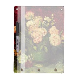 Bowl of Peonies and Rose,Vincent van Gogh Dry-Erase Board