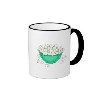 bowl of popcorn mugs