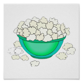 bowl of popcorn poster