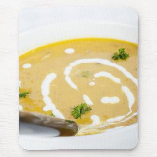 Bowl of Pumpkin Soup Mouse Pad