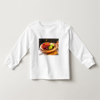 Bowl of Red Grapes and Pears Toddler T-shirt