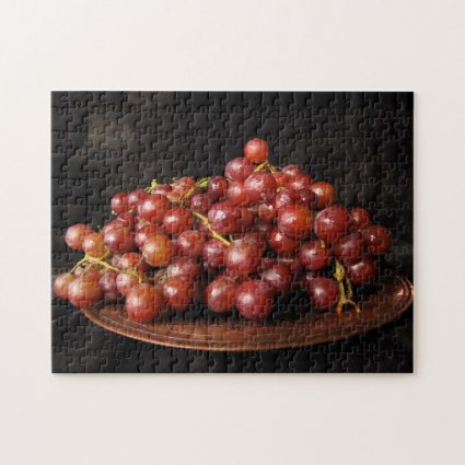 Bowl of Red Grapes Jigsaw Puzzle