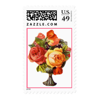Bowl of Roses Customizable Stamps