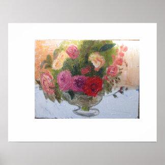 bowl of roses poster
