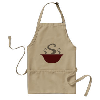 Bowl Of Steaming Soup Apron