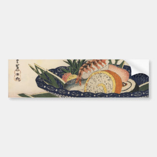 Bowl of Sushi, circa 1800's Japan. Bumper Sticker