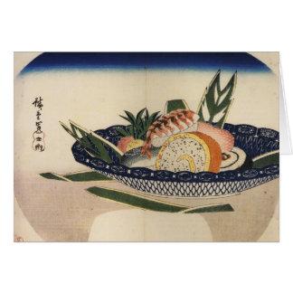 Bowl of Sushi, circa 1800's Japan. Greeting Card