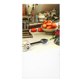 Bowl Of Tomatoes On Counter Card