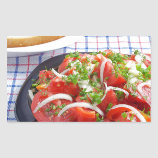 bowl of vegetarian salad rectangular sticker