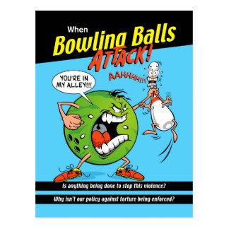 Bowl-Off Bowling Postcard