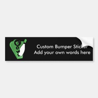 Bowl Pin Green Bowling Sign Car Bumper Sticker
