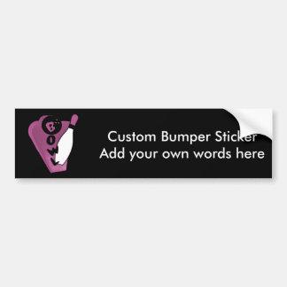 Bowl Pin Pink Retro Bowling Sign Car Bumper Sticker