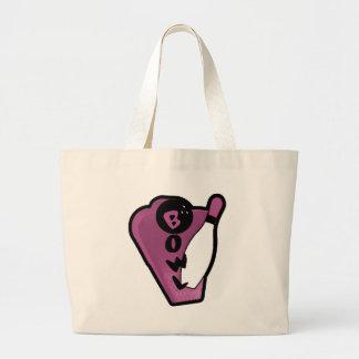Bowl Pin Pink Retro Bowling Sign Large Tote Bag